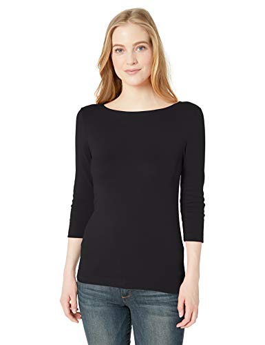 Image result for Amazon Essentials 3/4 Sleeve Boatneck T-shirt