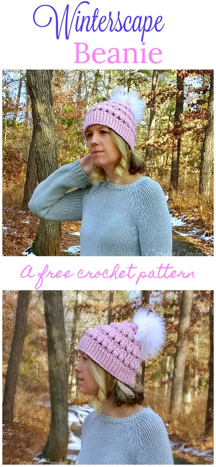 Winterscape Beanie - A free pattern by | Gorros y Guantes