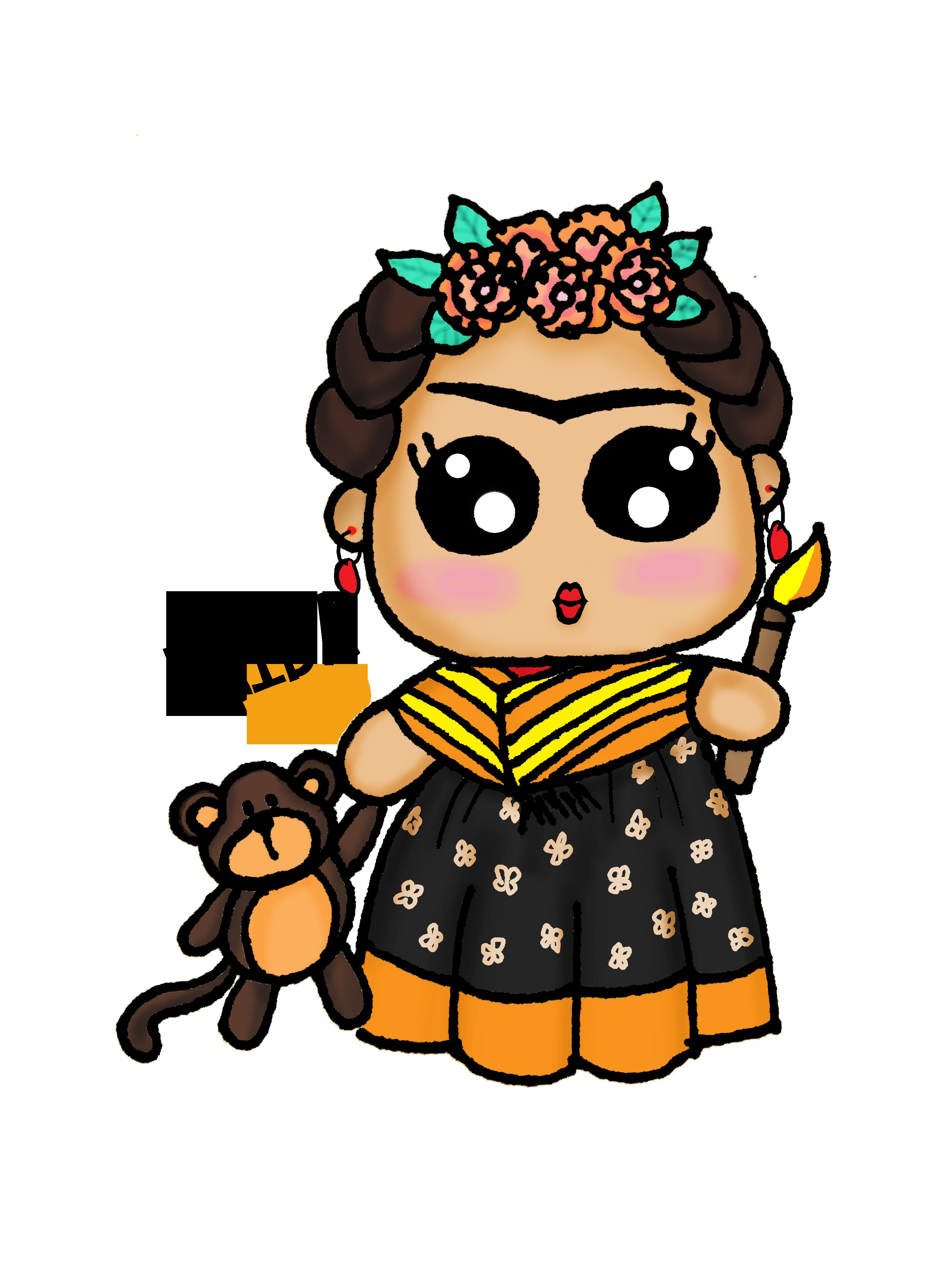 Frida Kahlo Kawaii Draw Frida Kahlo Kawaii My Arts