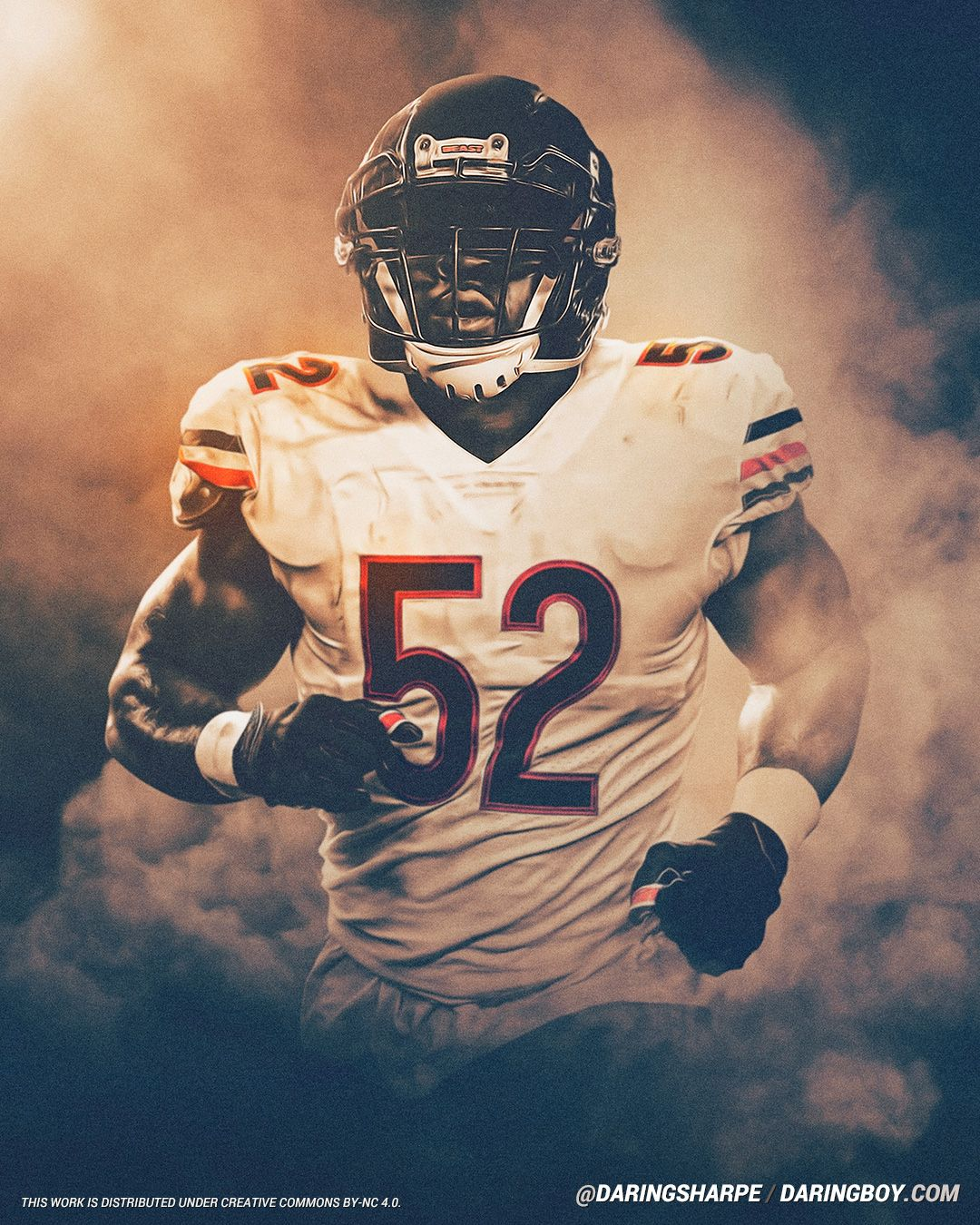 Khalil Mack Chicago Bears Daring Boy Interactive Chicago Bears Pictures Chicago Bears Wallpaper Chicago Bears Football