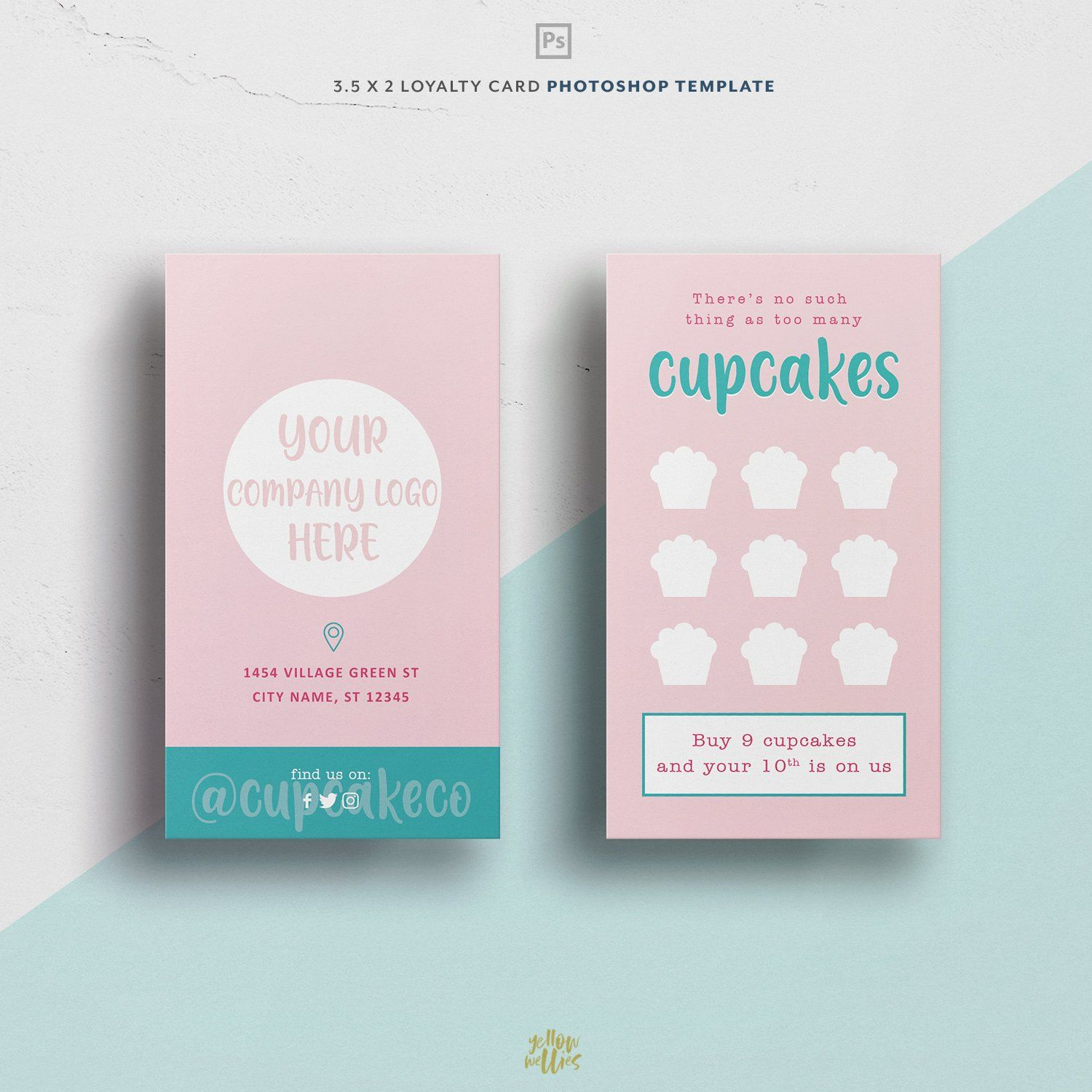 Cupcake Bakery Loyalty Card Photo