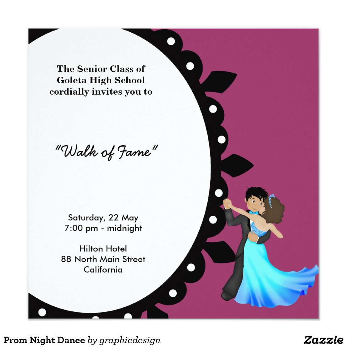 Prom night dance invitation pinterest prom night sold prom night dance invitation available in different products check more at zazzlecelebrationideas stopboris Image collections
