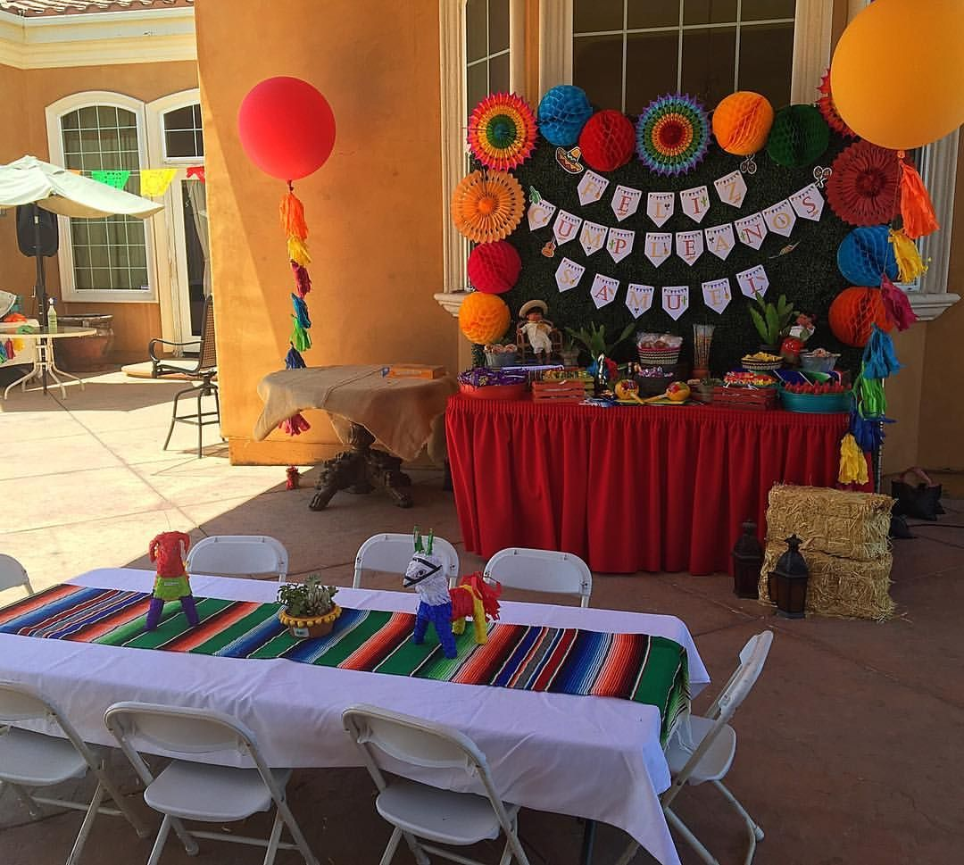 fiesta theme party mexican birthday buffet and seating 30921