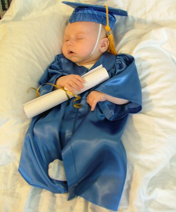 Baby Infant or Newborn Graduation Cap and Gown/Robe by queenalene ...