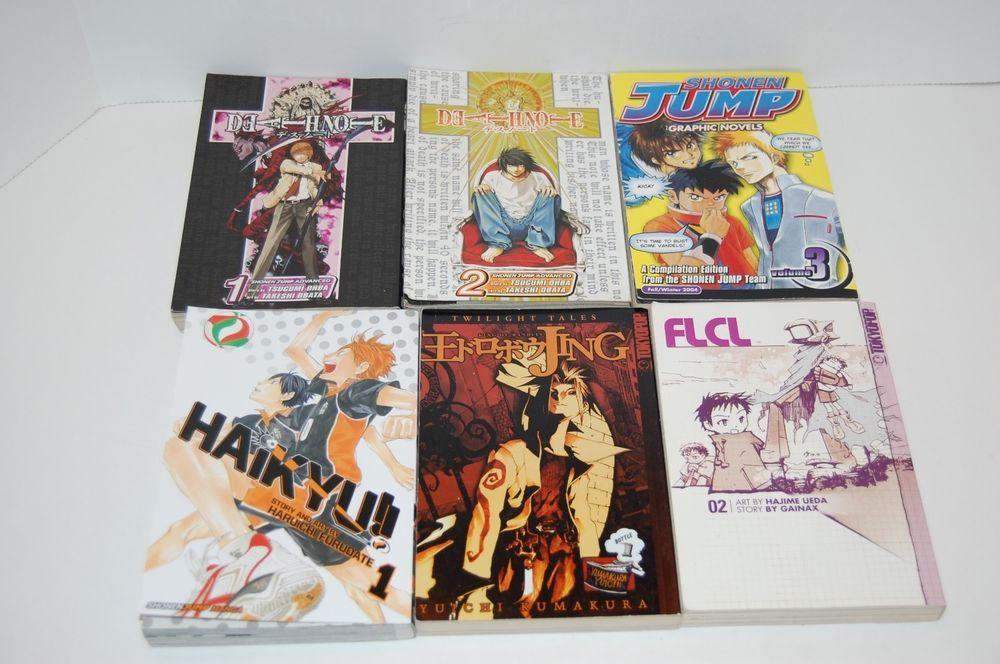Popular Manga Books Assorted 6 Books 1st And 2 Volumes Shonen Jump