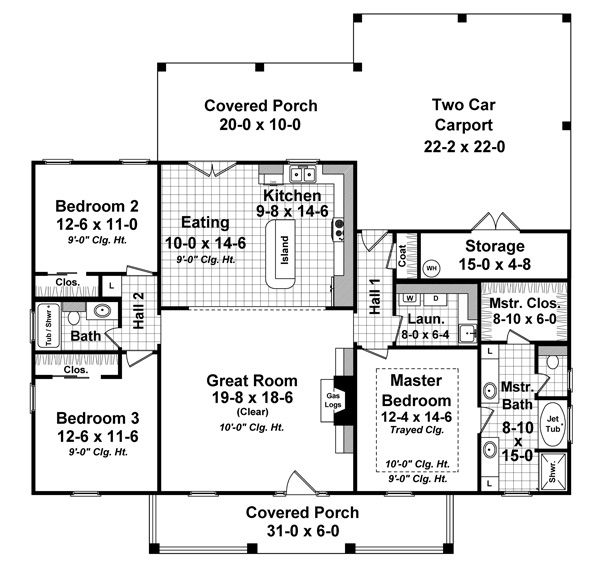 First story  Garage and House plans on Pinterest
