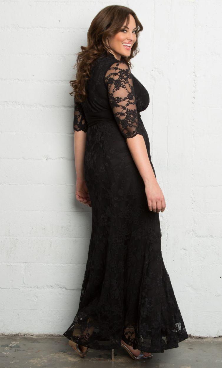 Curvalicious clothes plus size dresses screen siren lace gown