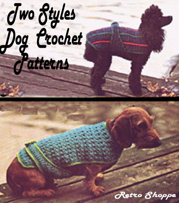 A Free Easy Crochet Dog Sweater Pattern For A Small Dog Crochet