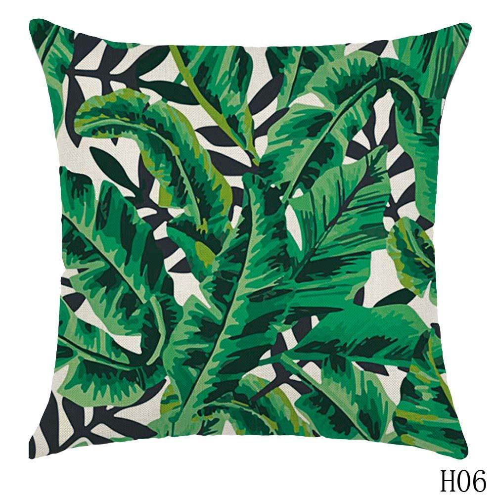 Tropical plant printed cushion cover products