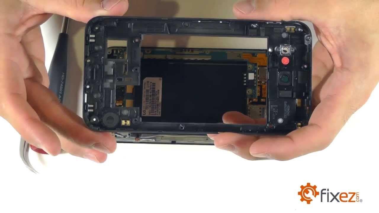 Lg optimus g pro screen repair disassemble