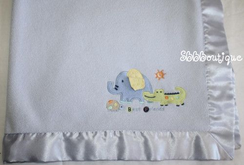 Carters Just One Year Baby Blanket Blue Best Friends