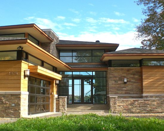 Contemporary exterior painted brick design pictures for Modern house 46
