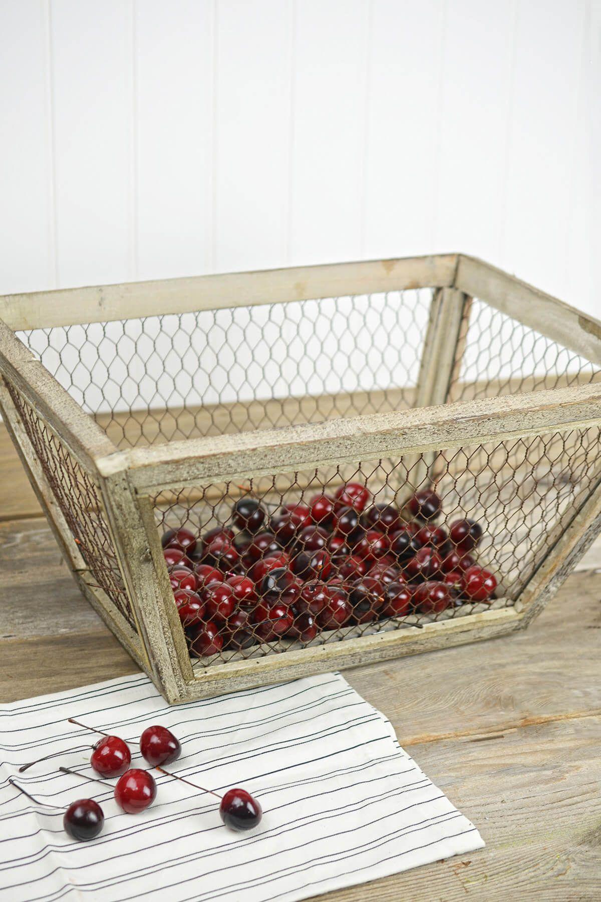 Baskets chicken wire basket chicken wire farmhouse