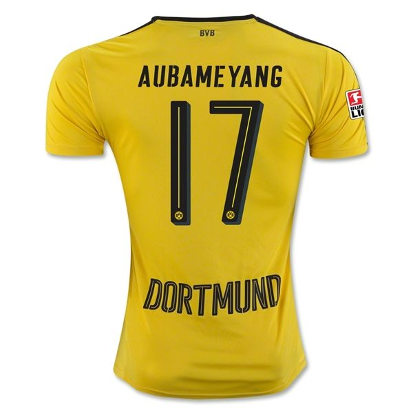 18 Dortmund 16 17 Soccer Jersey Soccer Shirt 17 Aubameyang Soccer Shirts Soccer Jersey Dortmund