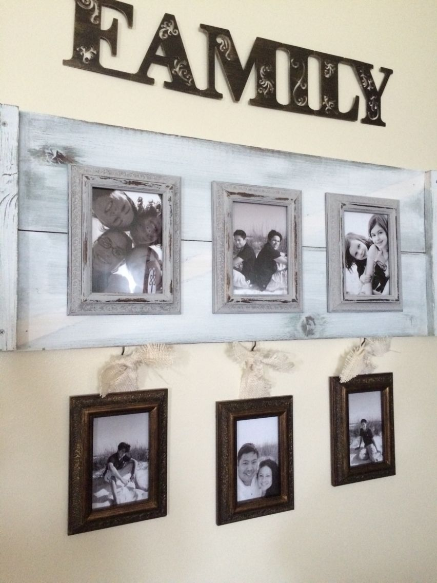 Felix Lake~large wall space in hallway family collage~ using ASCP ...