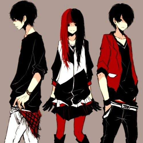 Anime Art I Love The Girls Outfit With Images Anime Siblings