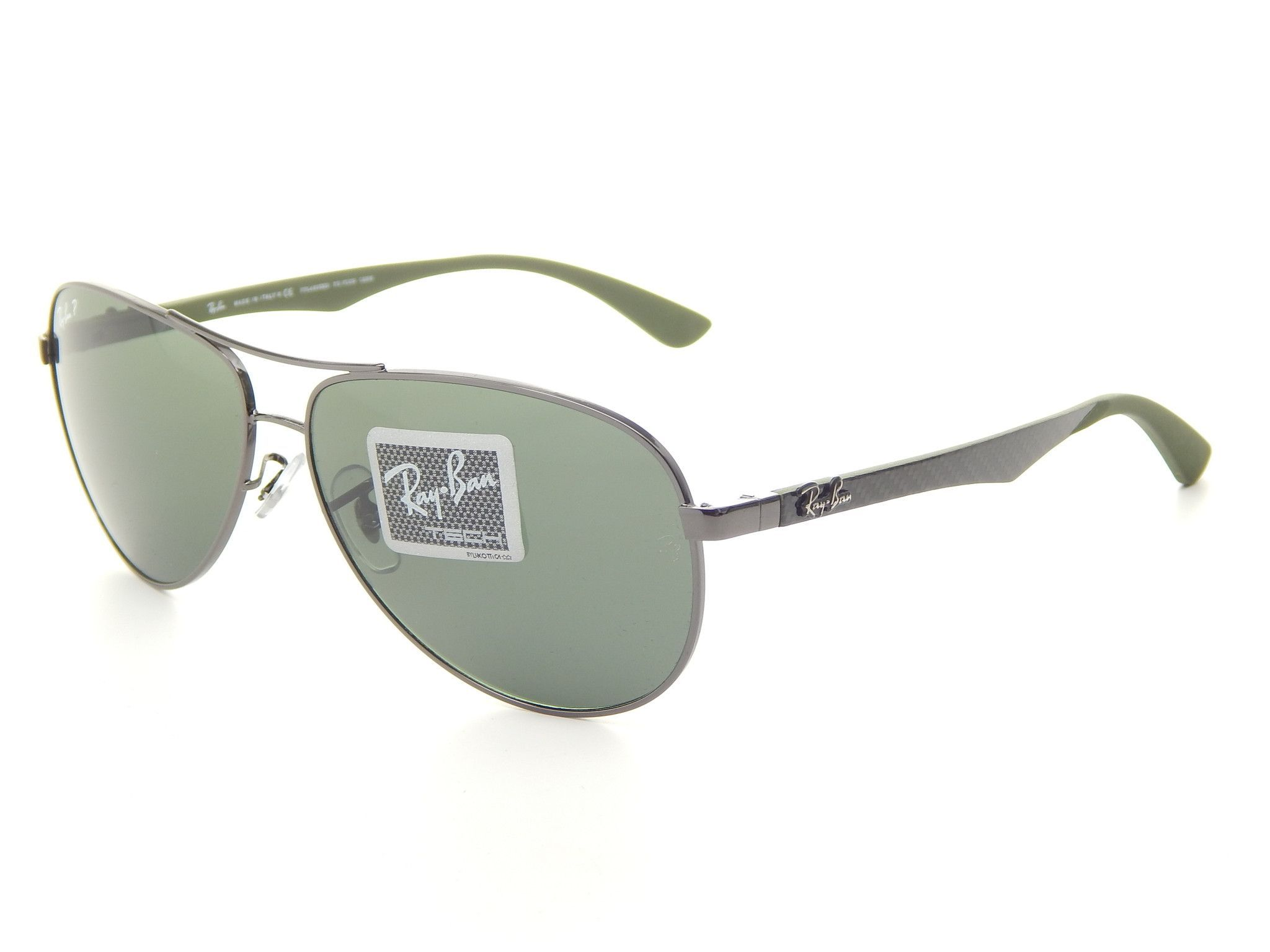 e2774d5cf0667 Ray Ban RB8313 004 N5 Gunmetal  Green Classic G-15 61mm Polarized Sunglasses