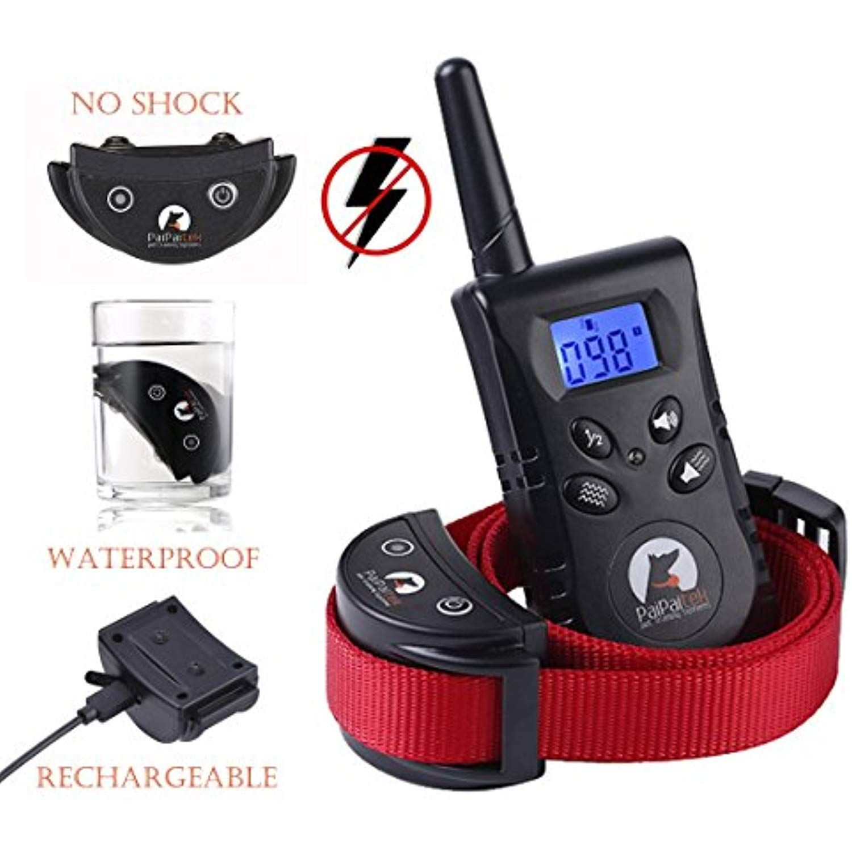 Paipaitek No Shock Dog Training Collar Remote Rechargeable