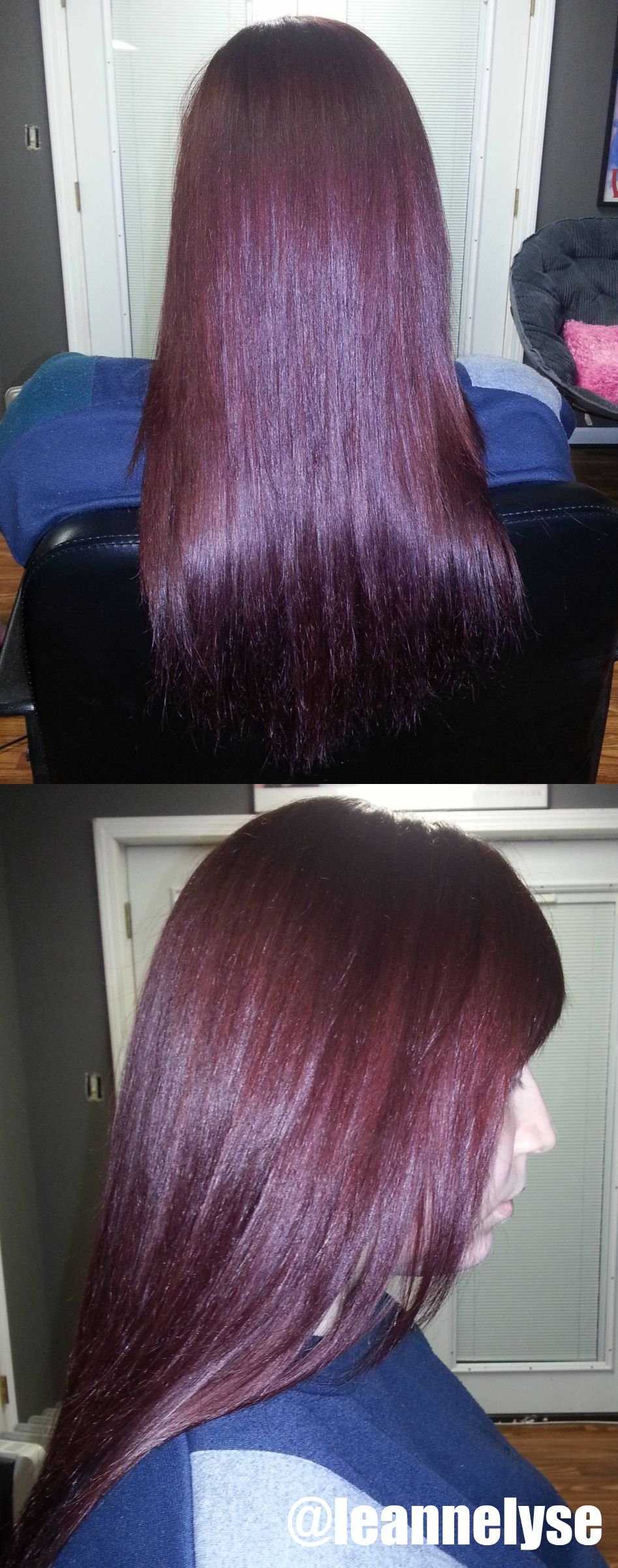 Deep Dark Red Hair Beautiful Shine And Dimension With