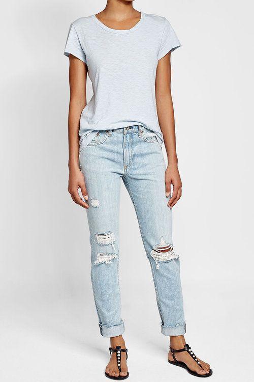 new product 89f27 2af81 Rag  Bone Distressed Slim Jeans