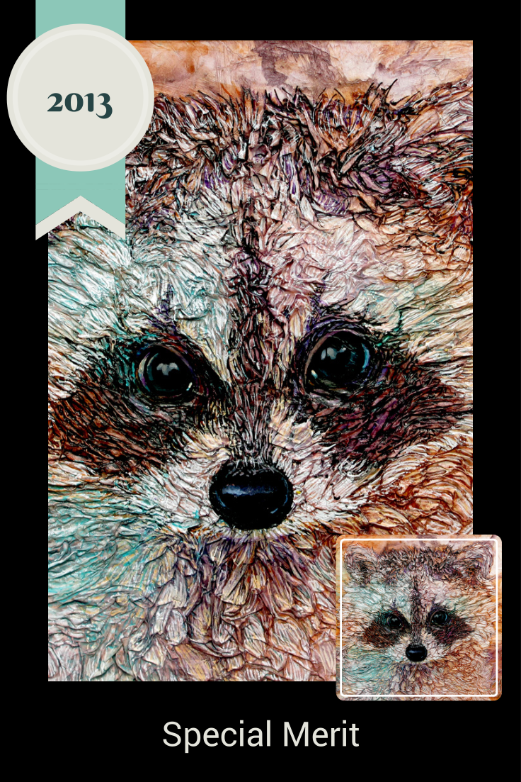 """http://www.colmitchell.com Kit AWARDED Special Merit in Light Space & Time Online Gallery for the Exhibition """"Animals"""" http://www.lightspacetime.com/animals-art-exhibition-special-merit/   """"The art which was selected for the Special Merit Category is any art that we believe could have also been placed in the top tier of the entries selected for the various media categories."""" LST Gallery  #raccoon #wildlife #nature #magicalwild #award #muskoka #art #paperart #penandink"""