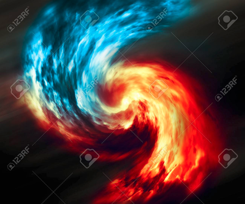 Fire And Ice Abstract Background Red And Blue Smoke Swirl On Abstract Backgrounds Fire And Ice Red And Blue