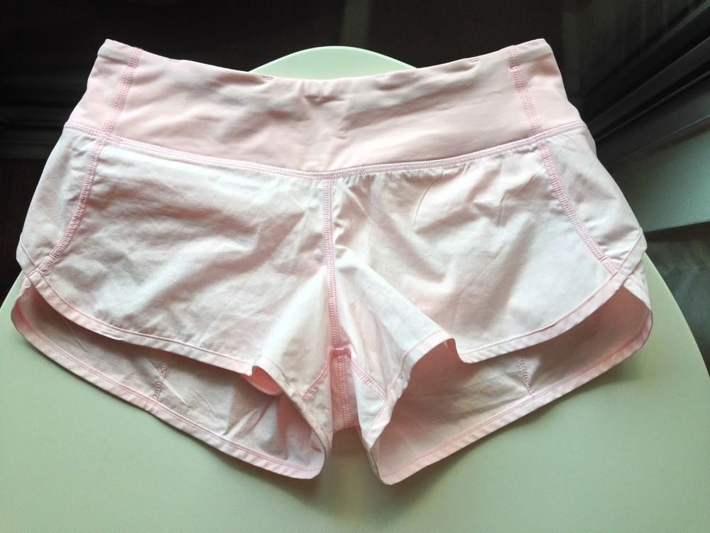 Lululemon Speed Shorts 4 Light Pink Shimmer Lululemon Speed Shorts Gym Shorts Womens Light Pink