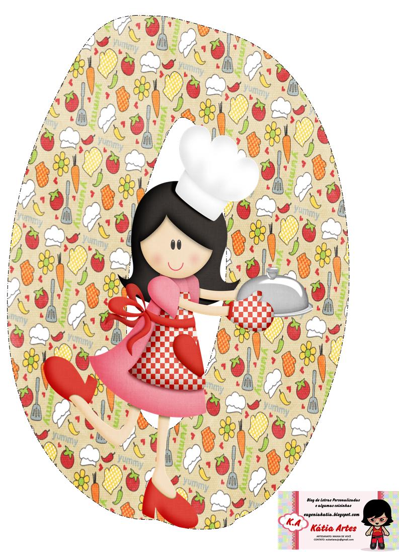 Alfabeto cocinera feliz.   Oh my Alfabetos!