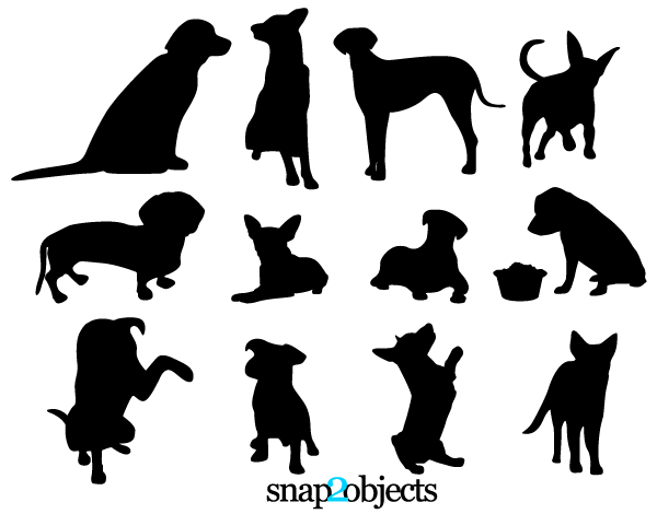 free dog vector silhouettes free dogs silhouette and dog rh pinterest ie dog paw vector art dog paw vector art