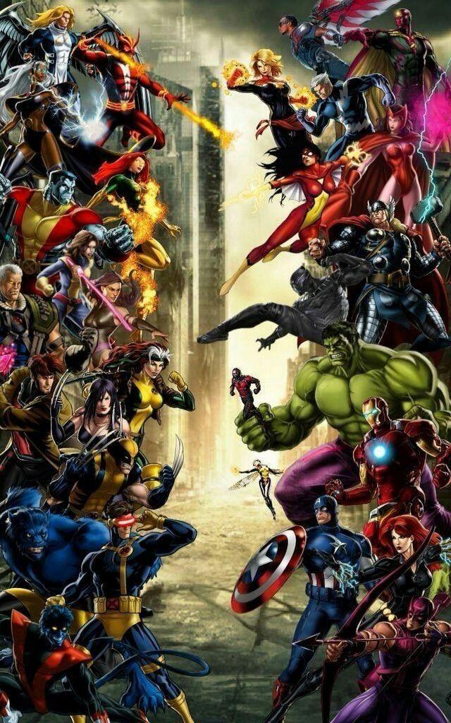 X Men Vs Superheros Marvel Comic Universe Marvel Dc Comics Marvel Comics Art