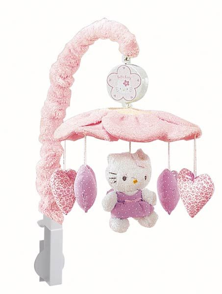 Hello Kitty Crib Bedding | ... Musical Mobile   Hello Kitty   Lambs Ivy    FREE SHIPPING Crib Bedding | Baby Shower | Pinterest | Hello Kitty, Lambs  And Crib