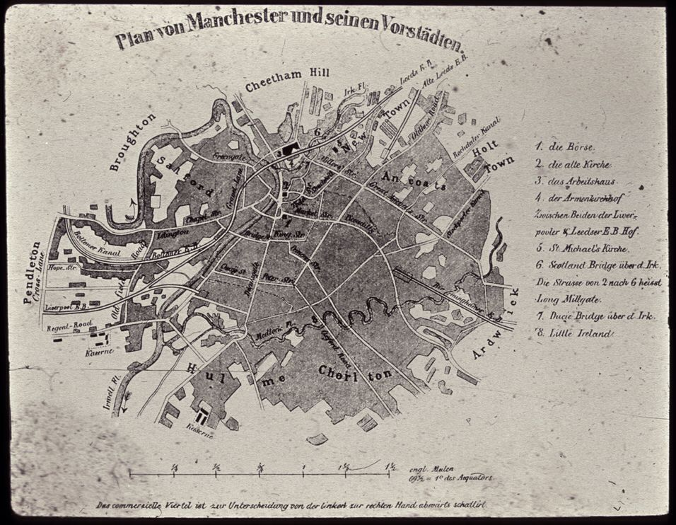 Engels map of Manchester