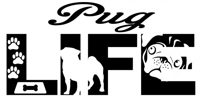 Silhouette Pug Dog Lovers SVG Pug Love SVG File Pug Cricut Files to Download Svg Commercial Use Dog Lover Pug owner svg Pug breed SVG