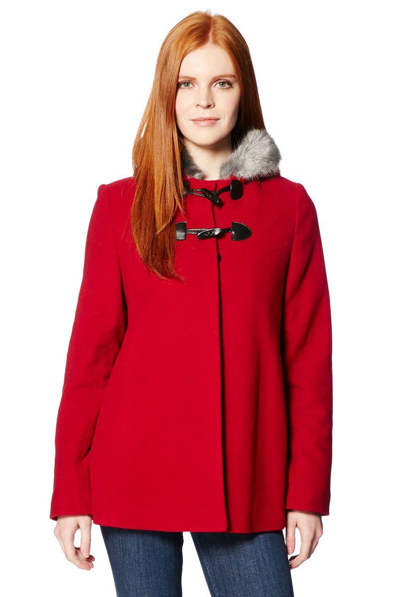1b90efef26 Venda Isaco   Kawa   11571   Pronto-a-Vestir   Sobretudos Curtos    Sobretudo de Lã Misturada Vermelho. 79€
