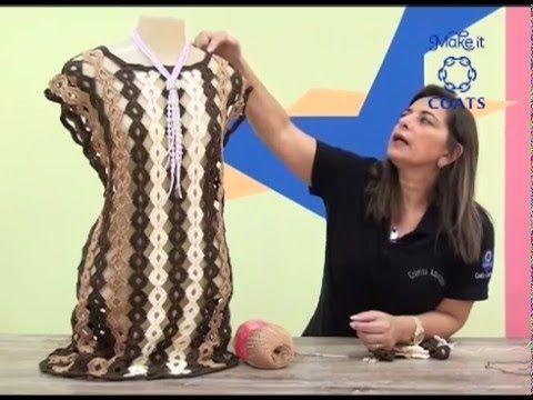 Vestido Rita em crochê com Camila Fashion | crochê adulto ...