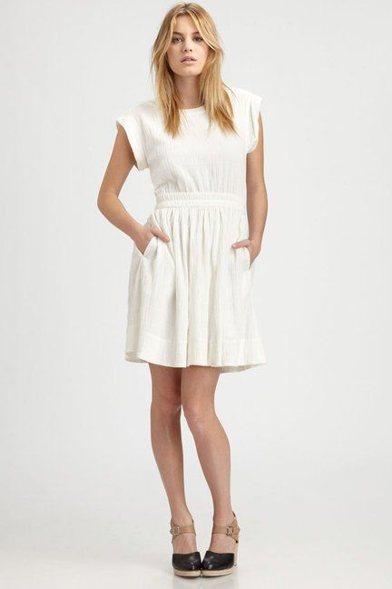 Perfect Little White Dress For Summer Marc By Jacobs Aliyah Cotton