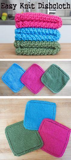 Easy Knit Dishcloth / Washcloth | Pinterest | Crochet, Knit crochet ...