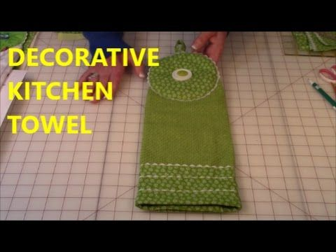 Sew With Me Hanging Kitchen Towels Youtube Kitchen Towels