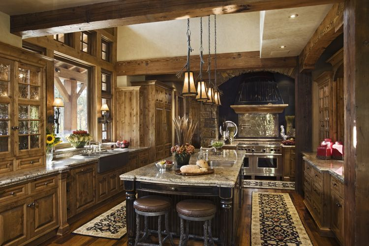 Nice Rustic Kitchen I Far-off shot Colorado Home Plan Ideas