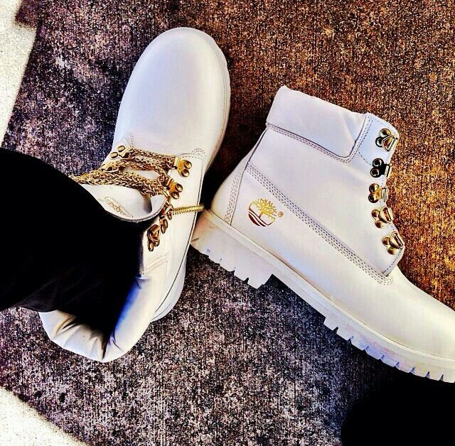 Timberlands in white. Not a fan of white shoes but for timberlands I'll bite