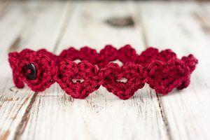 Crochet Heart Headband Pattern