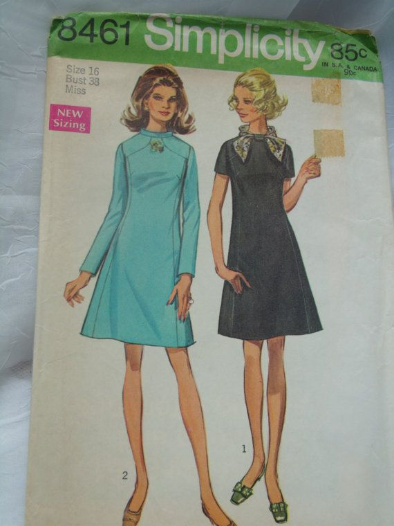 Price Reduced Vintage Sewing Pattern Simplicity 8461 Dress In