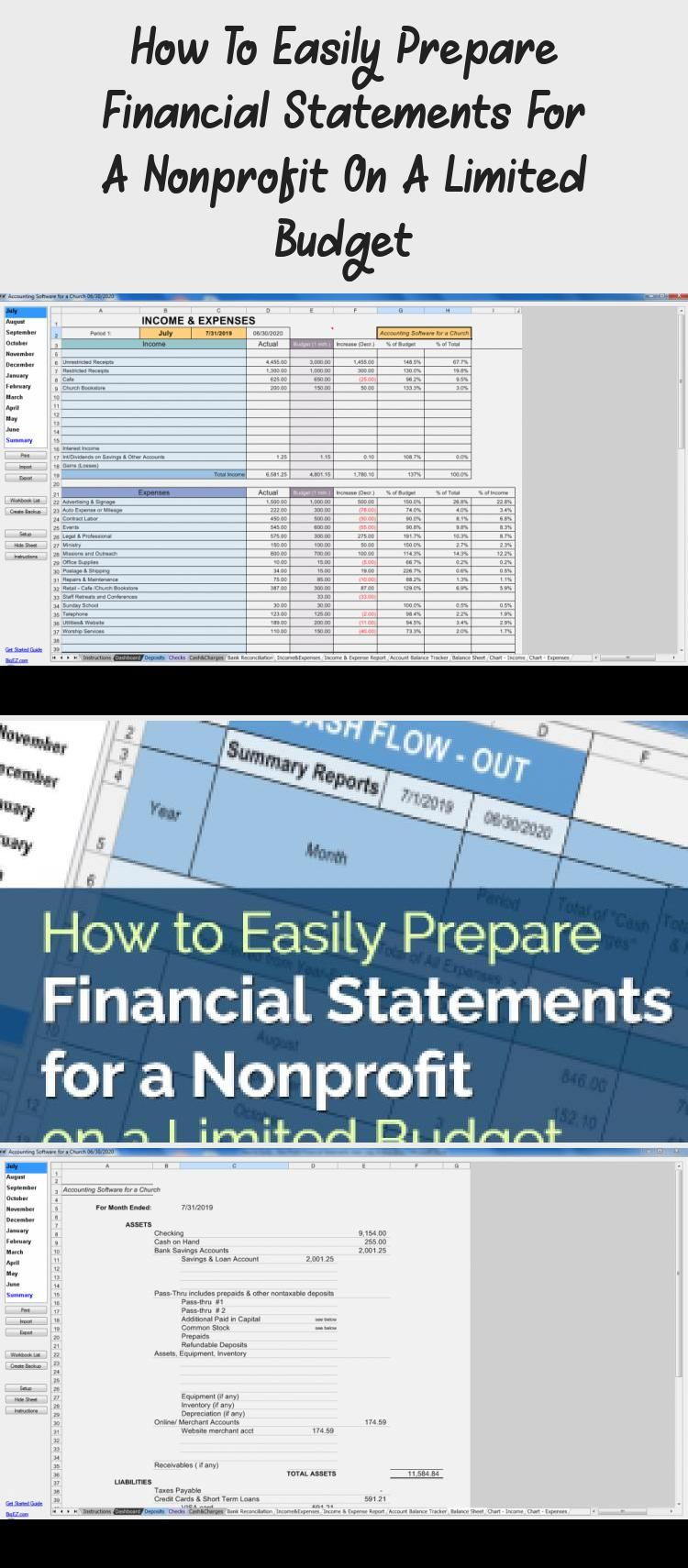 Non Profit Financial Statements Accounting for Charities