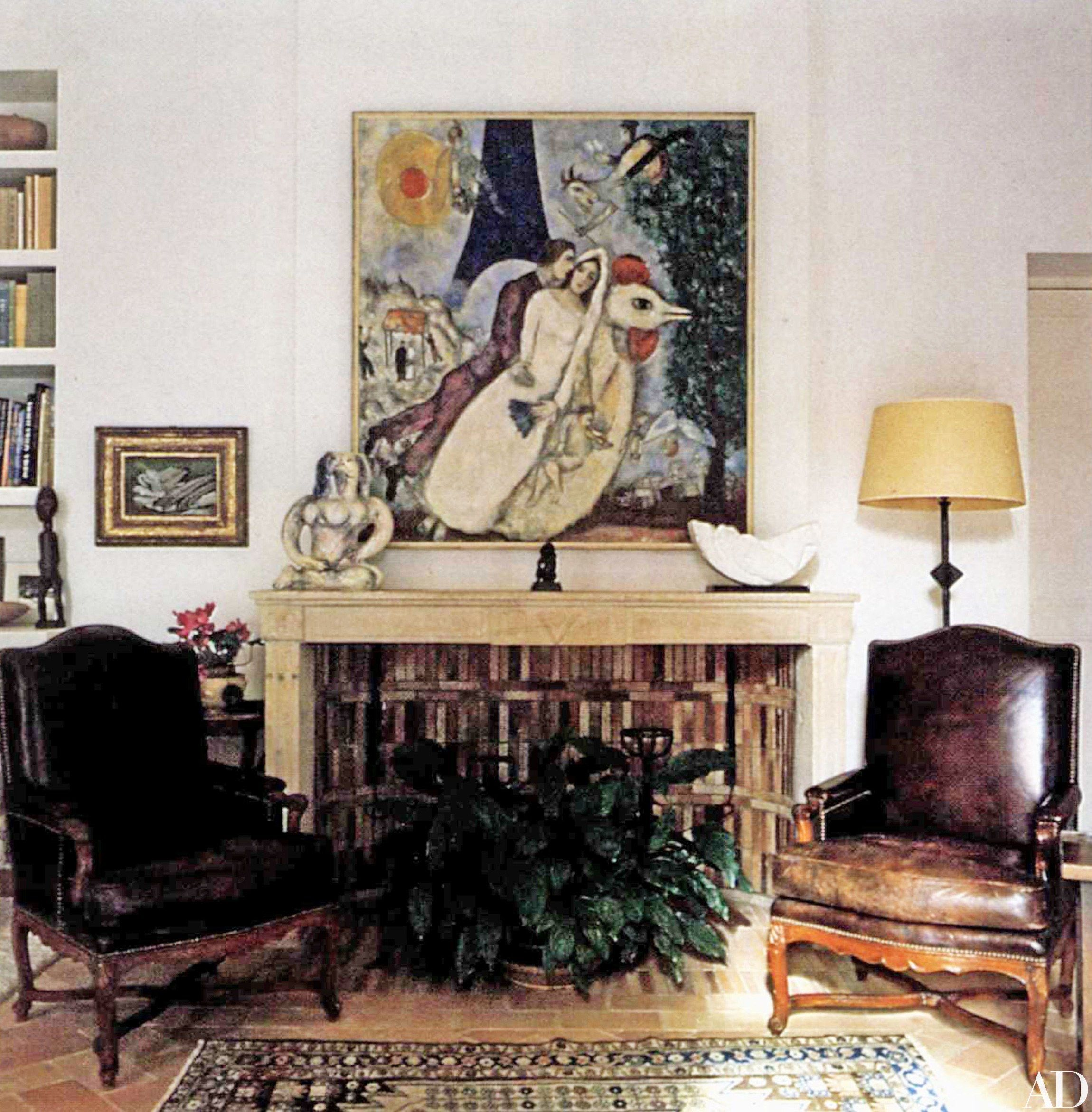 Peek Inside Marc Chagall S Dreamy Provencal Home Wall Painting
