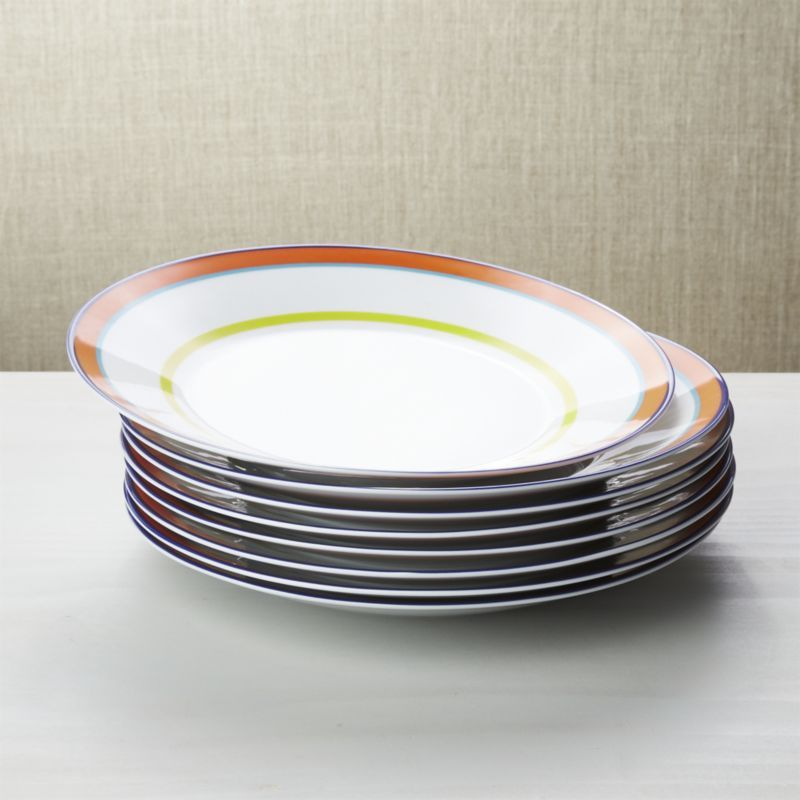 Shop Set Of 8 Cirque Dinner Plates Perk Up Everyday Meals With Bright Colorful Cirque This Set Of Eight Classic Plates Dinner Plates Porcelain Dinnerware
