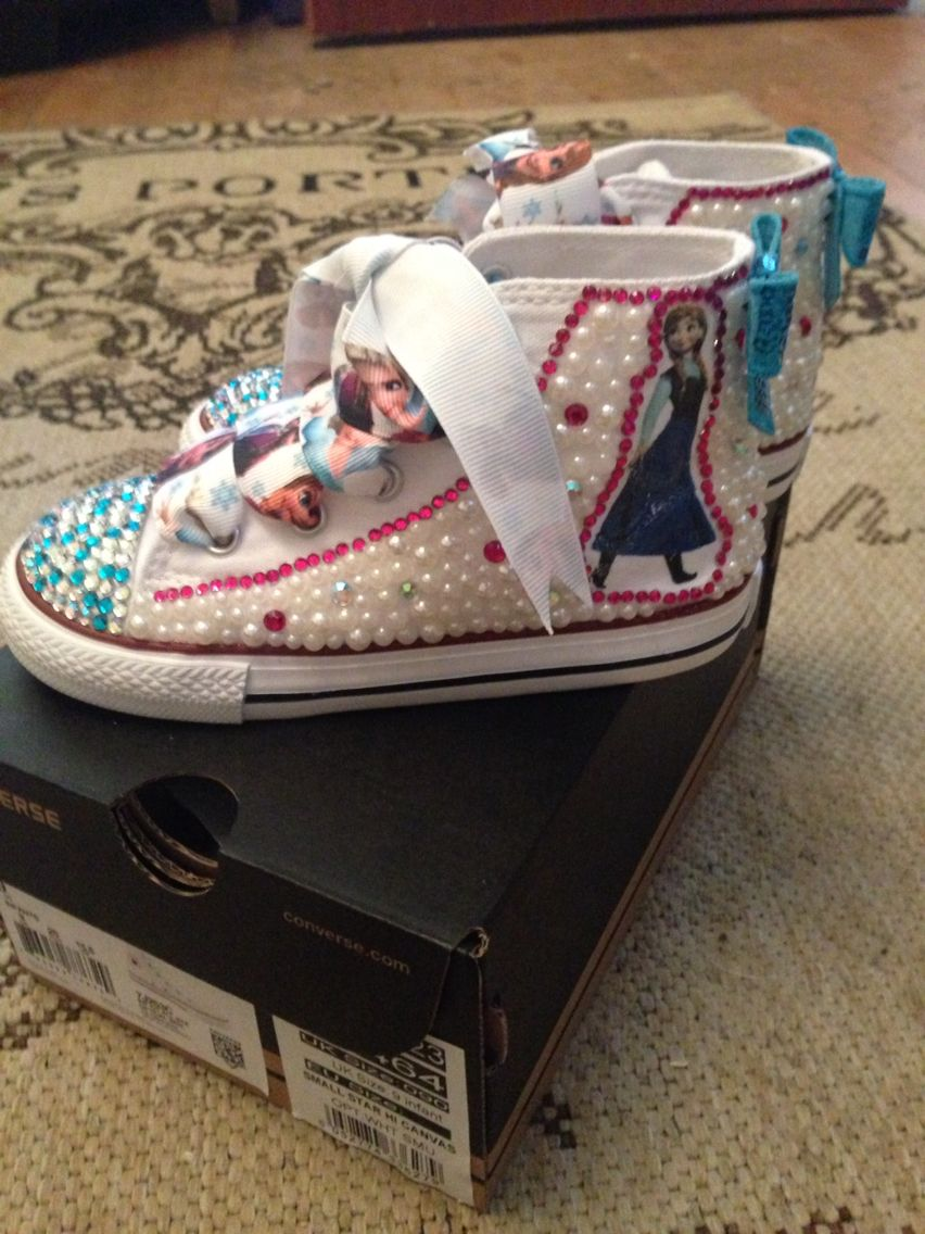 Customised kids converse  0a1149fe05