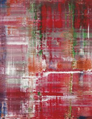 Gerhard Richter, Abstraktes Bild (798-3), 1993 (detail). Oil on canvas, 94 1/2 x 94 1/2 in. $14,000,000-18,000,000. Photo: Christie's Images Ltd 2012.