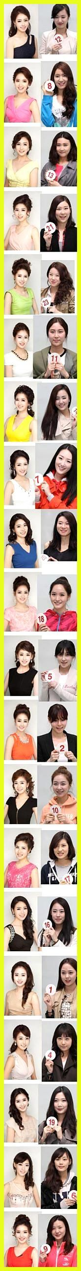Miss Korean candidates before and after make-up so it's just me (and …
