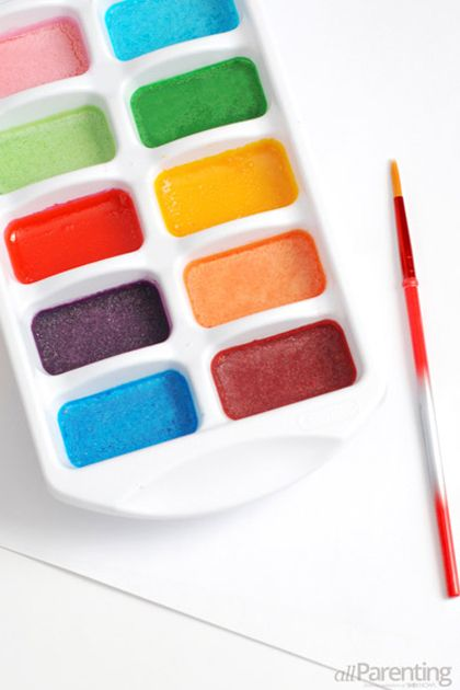 Homemade Water Color Paints by allParenting.....maybe I'll finally do that painting of The Chrysler Building myself!