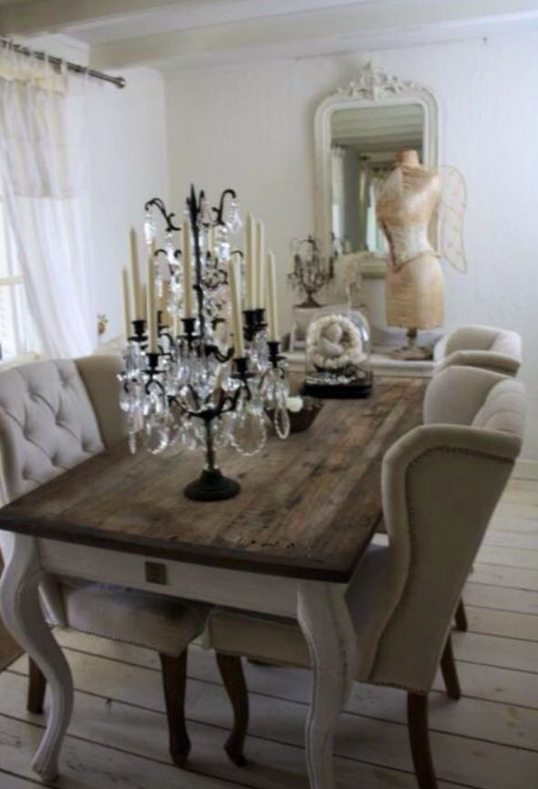 Tm Design 33 Shabby Chic Dining Dining Room Decor Driftwood Dining Table
